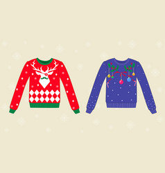 christmas ugly sweaters vector image