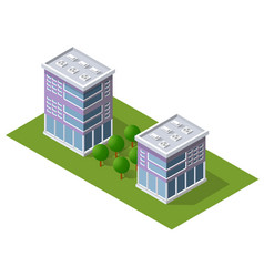 Cityscape design elements with isometric building vector