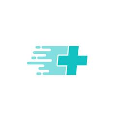 Clinic delivery logo icon design vector
