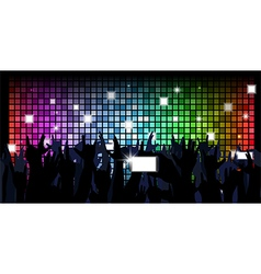 colorful crowd party people vector image