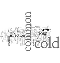Common cold as common as the air we breathe vector