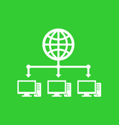 computer network and internet icon vector image