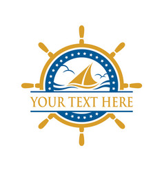 Cruise ship sign and symbol logo vector