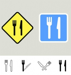 dining signs vector image