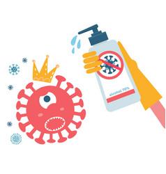 Disinfection coronavirus stop 2019-ncov hand vector