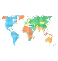 dot style world map vector image