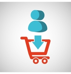 e-commerce store digital character icon vector image