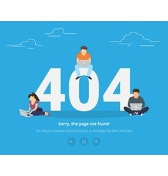 Error page not found concept vector