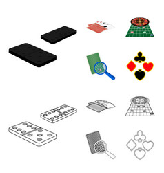 Excitement casino game and other web icon in vector