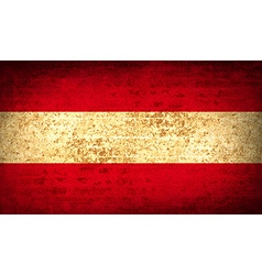 Flags Austria with dirty paper texture vector image