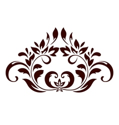 Floral ornament with leaves and swirls vector