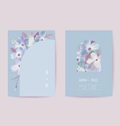 floral wedding invitation botanical card boho vector image
