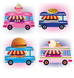 food vans vector image