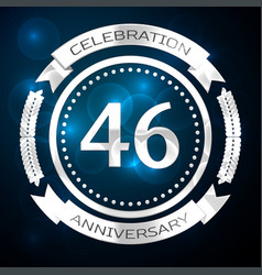 forty six years anniversary celebration with vector image