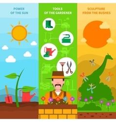 Gardening banner set vector image