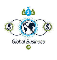 global business and e-business creative logo vector image