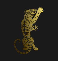 Golden tiger vector