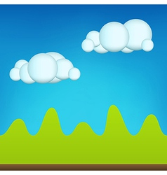 Green Cartoon Landscape vector