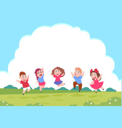 happy cartoon children preschool playing kids on vector image