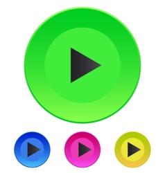 Icon Play button web icon vector