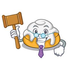 Judge cinnamon roll mascot cartoon vector