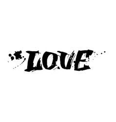love lettering valentines day card design vector image