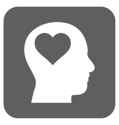 Lover Head Flat Squared Icon vector