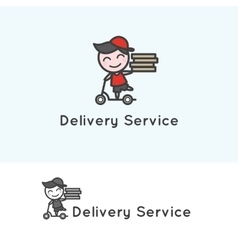 Minimalistic young delivery boy character vector