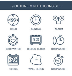 minute icons vector image