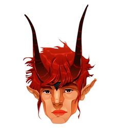 Mythological demon head vector