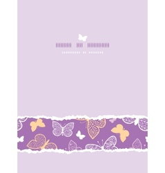 Night butterflies torn frame horizontal seamless vector