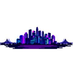 Night neon city vector