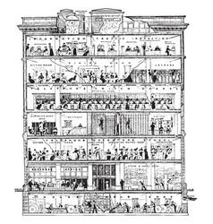 Office building vintage vector