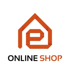 Origami online shop logo vector