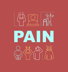Pain word concepts banner vector