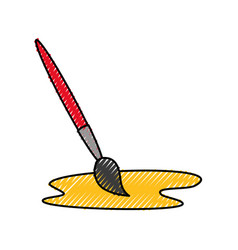 paint brush isolated icon vector image
