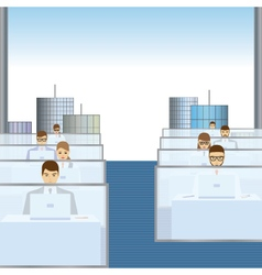 People working in the office Call center vector image