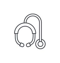 phonendoscope thin line icon linear symbol vector image
