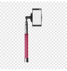 pink monopod mockup realistic style vector image