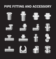 pipe fitting vector image