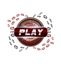 playing cards and poker chips fly casino play vector image