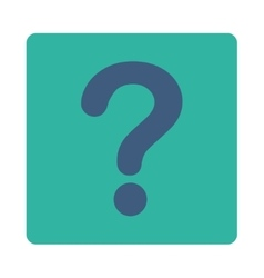 Question flat cobalt and cyan colors rounded vector