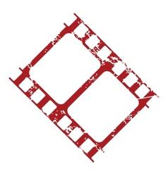 Red grunge film logo vector image