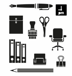 Retina Office Tools Icon Set vector image