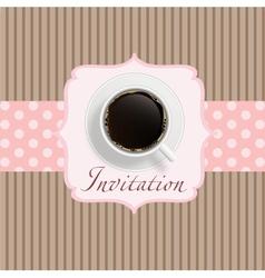 Retro coffee invitation Card vector