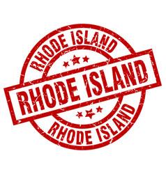 Rhode island red round grunge stamp vector