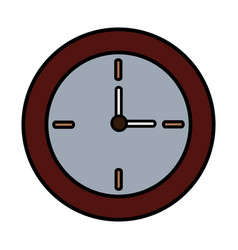 Round clock time hour decoration element vector