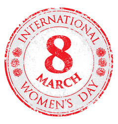 rubber stamp grunge womens day vector image