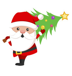 santa claus icon christmas holiday celebration vector image
