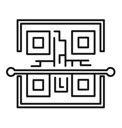 Scan qr code icon outline style vector